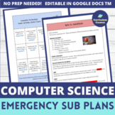 Computer Science Sub Plans with Choice Board