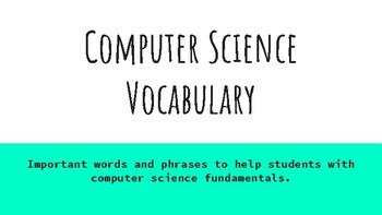 Computer Science Vocabulary