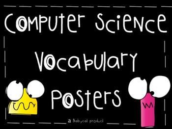 Computer Science (coding) Vocabulary Posters