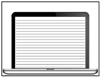 Computer Screen Worksheet with text lines