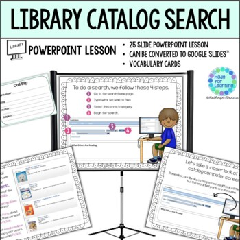 Library Skills: Computer Search in the Library Online Catalog...Powerpoint