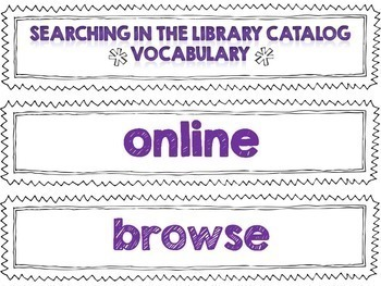 Library Skills PowerPoint Computer Search in the Library Online Catalog