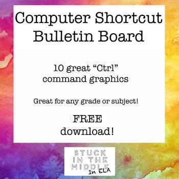 Computer Shortcut Bulletin Board Graphics