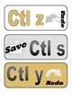 Computer Shortcut Wall Bulletin Board Cutouts