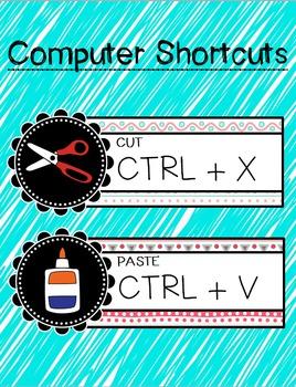 *Freebie* Computer Shortcuts