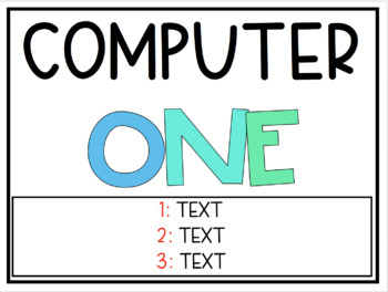 Computer Signs Pack - Editable and Non-Editable