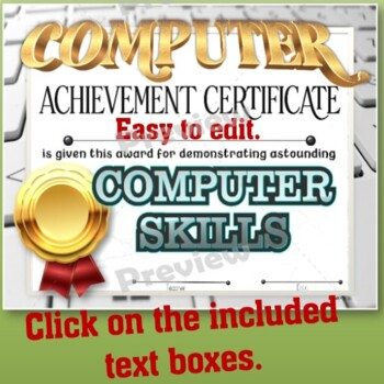 Computer Skills Achievement Certificate