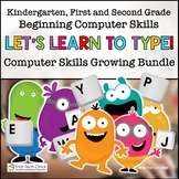 Beginning Computer Skills Growing Bundle for K-2 | Distanc