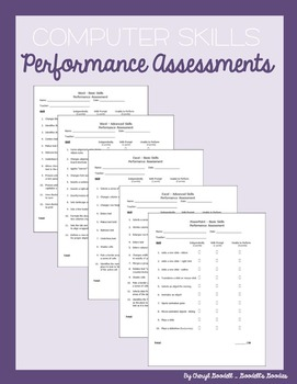 "Computer Skills Performance Assessments (""Office"")"