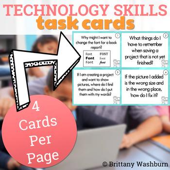 Computer Skills Task Cards - MS Office Skills