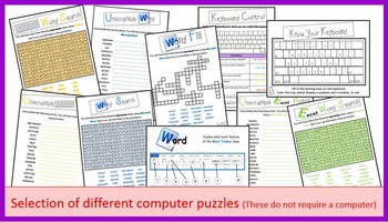 Computer Software Paper Puzzles