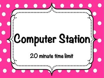 Computer Station Sign