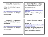 Computer Station Task Cards for Centers, DIY's, and Daily 5