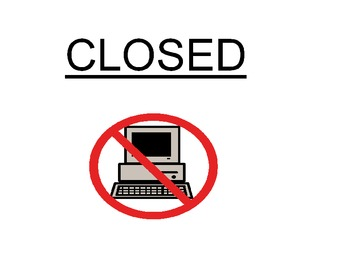 Computer Station is Closed Sign