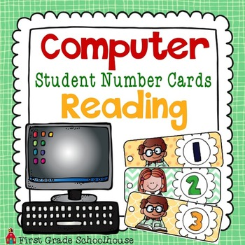 Computer Student Number Cards Reading