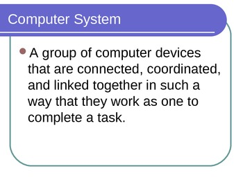 Computer Systems PowerPoint