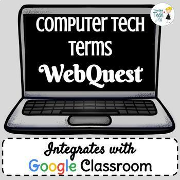 Computer Tech Terms Webquest - Fully EDITABLE in Google Slides!