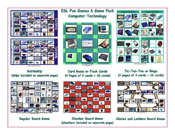 Computer Technology 6 Board Game Bundle