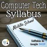 Computer Technology Syllabus - Fully Editable in Google DOCS