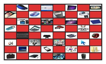 Computer Technology Legal Size Photo Checkerboard Game