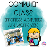 Computer/Technology Errorless Activities and Worksheets
