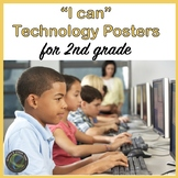 """Computer Technology """"I Can""""  Statement Posters for Second Grade"""