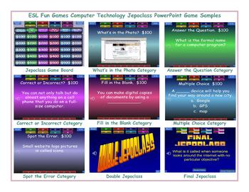 Computer Technology Jeopardy PowerPoint Game