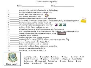 Computer worksheets for grade 3