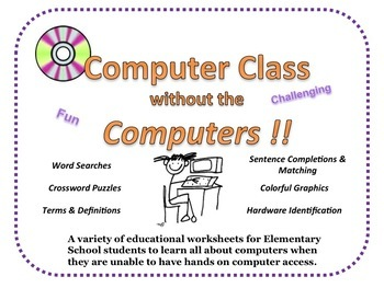 Computer Technology Lessons with Worksheets for Grades 2-4