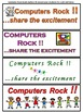 Computer Technology Matching Rhymes Worksheet with Bookmark Awards Grades 3 & 4