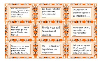 Computer Technology Spanish Card Game