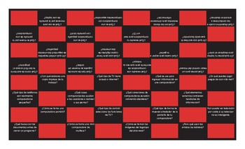 Computer Technology Spanish Checker Board Game