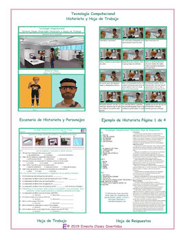 Computer Technology Spanish Comic Book and Worksheet