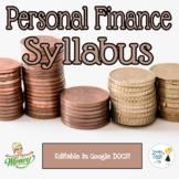 Personal Finance Syllabus - Editable in Google Docs