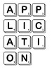 Computer Terminology Scrabble Letters