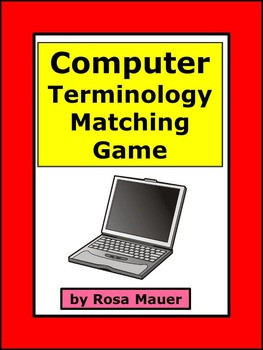 Computer Terminology Vocabulary Matching Game