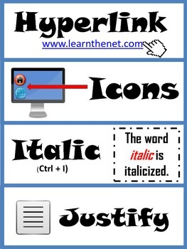 Computer Terminology Word Wall Cards