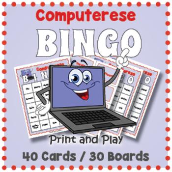 Computer Terms Bingo Game