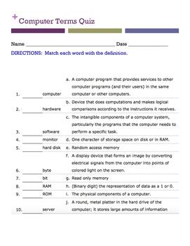 Computer Terms quiz