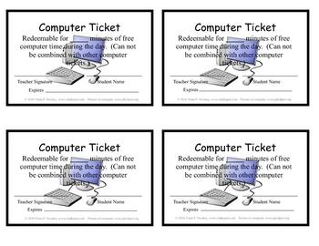 Computer Ticket Reward (Updated)