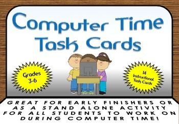 Computer Time ~ Digital Media ~ TASK CARDS