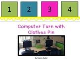 Computer Turn Clothes Pin Helper