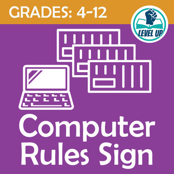 Computer Use Rules Sign