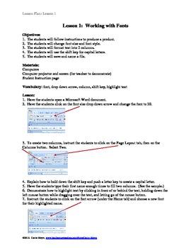 Computer:  Using Microsoft Word:  The Basics