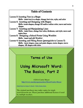 Computer: Using Microsoft Word: The Basics, Part 2