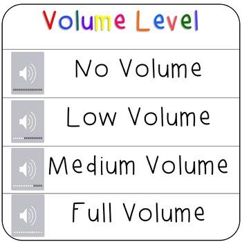 Computer Volume Sound Level Cards