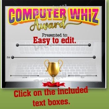 Computer Whiz Certificate