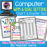 Computer Words Per Minute Chart & Goal Setting Poster Set