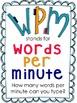 Computer Words Per Minute Chart & Goal Setting Poster Set