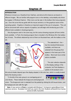 Computer Works Unit 3 - Graphics